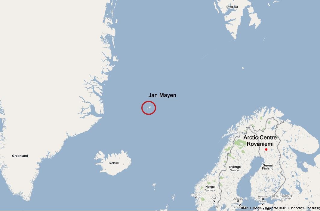 Vị trí chụp các bức ảnh nằm được cho là nằm ở giữa biển Iceland và đảo Jan Mayen ở Đại Tây Dương.