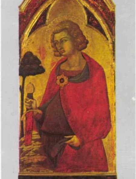 Chân dung San Galgano Guidotti, tương truyền là chủ nhân của thanh gươm kỳ lạ.