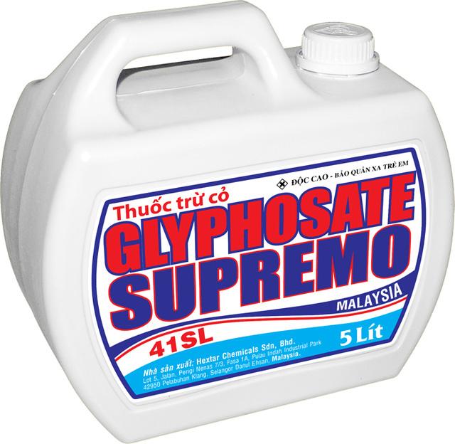Thuốc trừ cỏ gốc glyphosate được quảng cáo ở Việt Nam (ảnh: soha.vn)