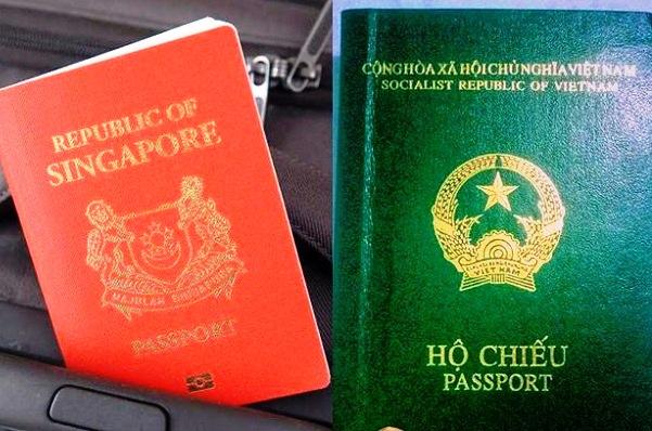 ho chieu singapore va viet nam