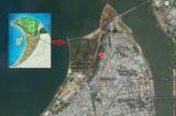 Vị trí dự án trên bản đồ vệ tinh. (Ảnh vệ tinh/Google Maps)