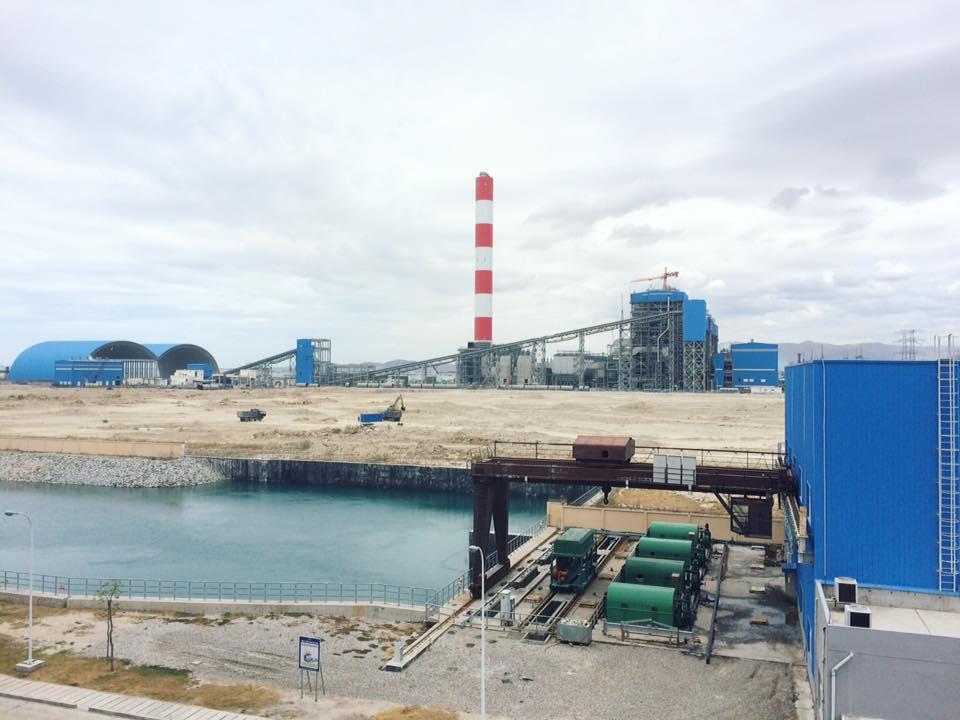 nhiet dien vinh tan, bãi xỉ than Nhà máy nhiệt điện Vĩnh Tân