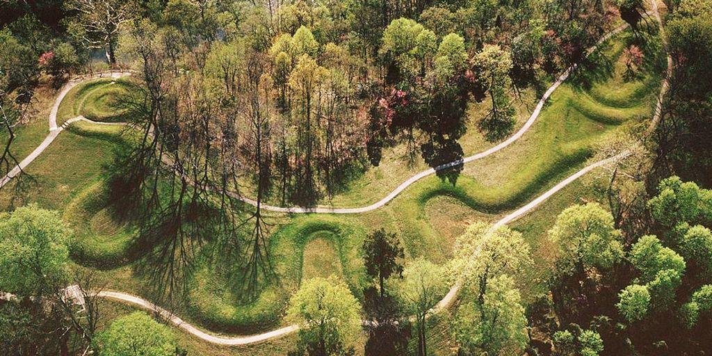 Ụ đất hình rắn ở Ohio (ảnh: geocaching.com)