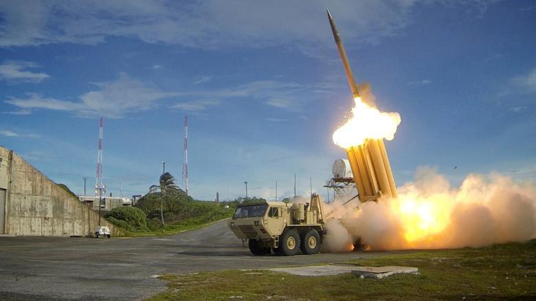 Một thiết bị phóng tên lửa của THAAD (Ảnh: Bộ Quốc phòng Mỹ)