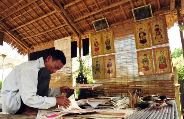 Nghề cổ đất Việt – Kỳ 3: Tranh Đông Hồ – Những bức họa làng quê