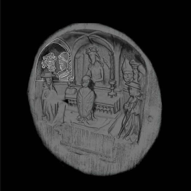 Qua chụp quét micro CT, người ta phát hiện có chân dung ẩn giấu của vị vua này cùng vợ mình là Catherine xứ Aragon. (Ảnh: Art Gallery of Ontario)