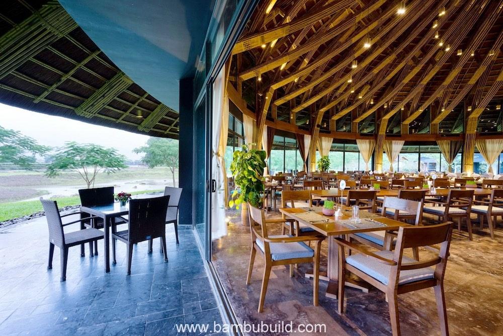 Nhà hàng Tre Kim Bôi, Hòa Bình (ảnh: ashui.com)