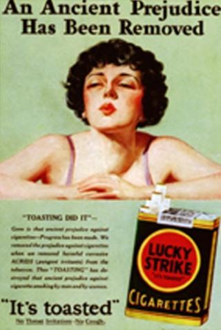 """Quảng cáo phụ nữ hút thuốc lá để """"giải phóng nữ quyền"""" của Lucky Strike."""