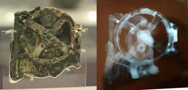 Mảnh vỡ của cỗ máy, kèm theo ảnh chụp X quang
