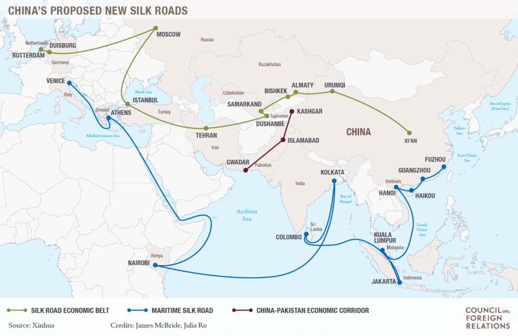 Đề xuất dự án Con đường Tơ lụa hiện đại của Trung Quốc