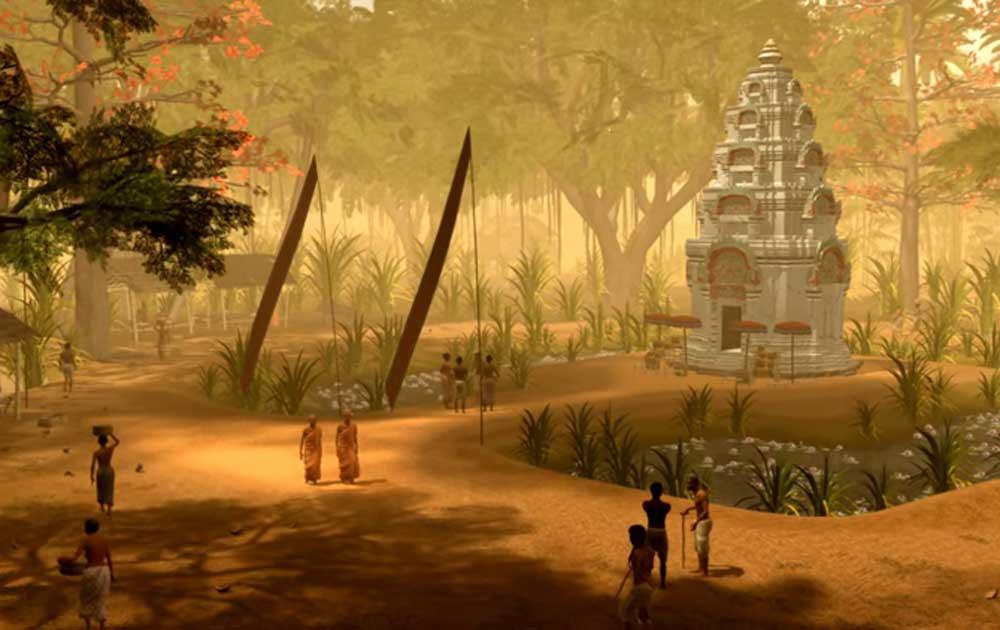 Một ngôi đền nhỏ nằm ở khu vực xung quanh Angkor Wat (ảnh: Tom Chandler và Brent McKee/Monash University)