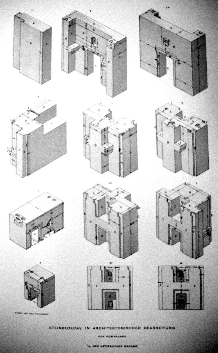 Hình vẽ mô phỏng cấu tạo của các phiến đá chữ H (nguồn: abovetopsecret)