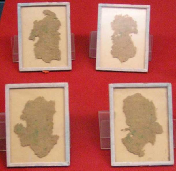 Những mảnh giấy từ cây gai dầu từ thời Hán Vũ Đế (141-87 TCN) (ảnh: Wiki)