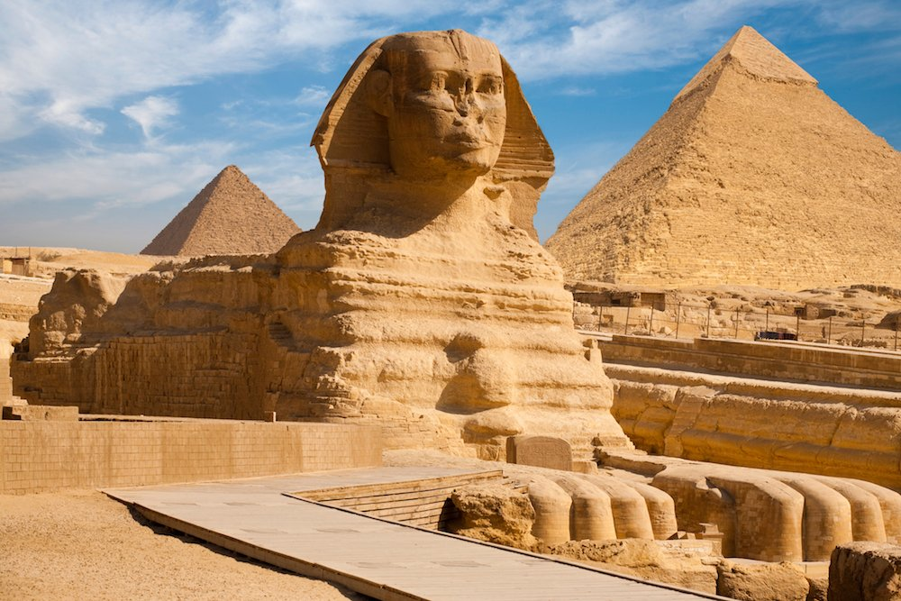 Tượng Nhân sư lớn ở Giza, Ai Cập. (pius99/iStock/Thinkstock)