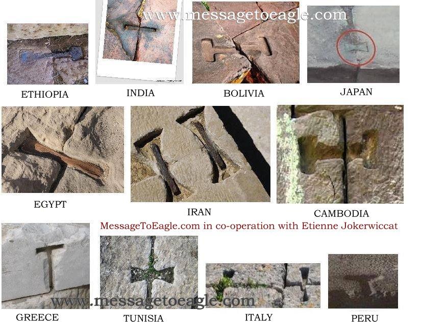 Kỹ thuật ghép đá bằng chốt kim loại nóng chảy được tìm thấy ở Tiwanaku cũng xuất hiện ở Ai Cập, Ấn Độ, Campuchia và nhiều nơi khác trên thế giới (ảnh: messagetoeagle.com)