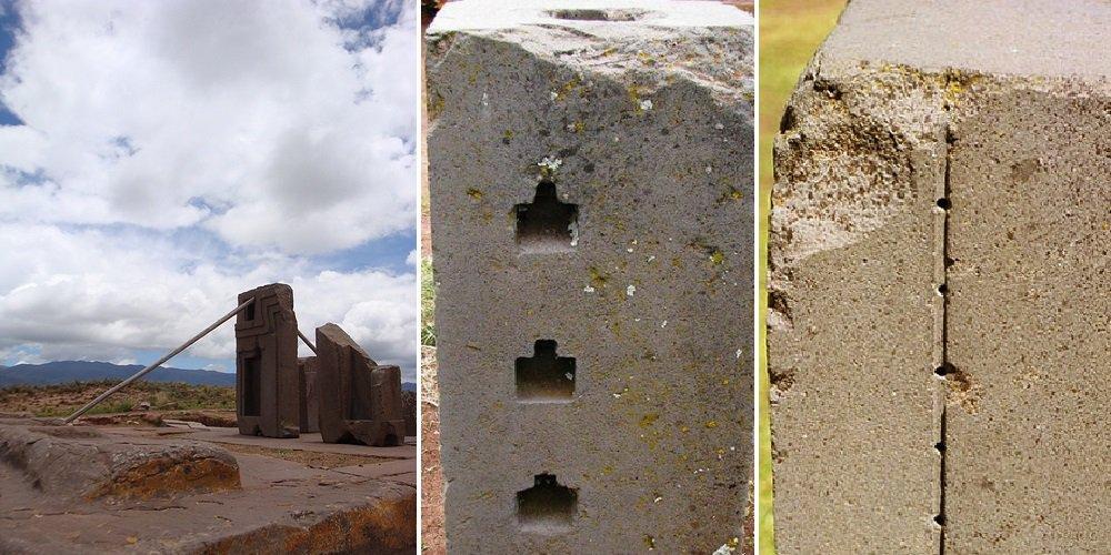 Các rãnh khắc và lỗ khoan trên các phiến đá thể hiện sự đồng đều tuyệt đối (ảnh qua tinhhoa.net)