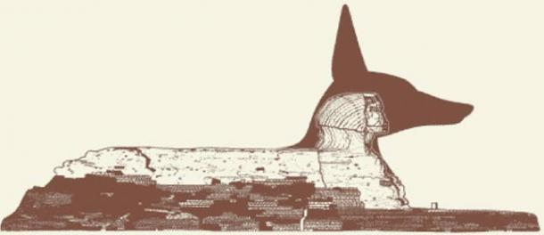 Tượng nhân sư ban đầu có thể được thiết kế là bức tượng của thần Anubis (ảnh: public domain)