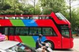 ha noi chay thu nghiem xe bus mui tran 2 tang