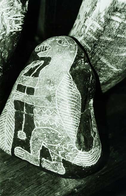 Hòn đá Ica được chạm khắc hình ảnh một loài bò sát hay khủng long nào đó