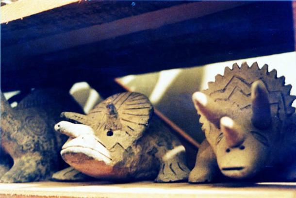 Các bức tượng của loài bò sát trong bộ sưu tập của giáo sư Cabrera (ảnh: Walter Langbein)