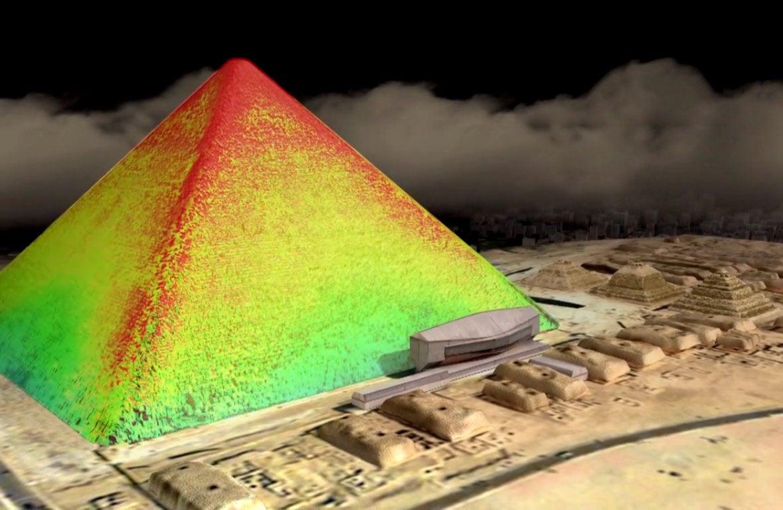 Hình ảnh kim tự tháp khi tiến hành chụp scan nhiệt độ (ảnh: HIP Institute)
