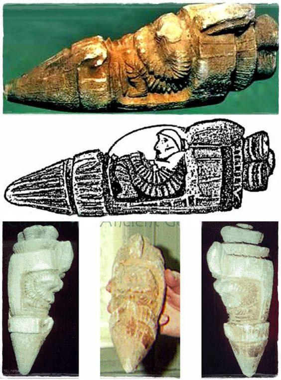 Cổ vật được tìm thấy ở Thổ Nhĩ Kỳ được cho là một phi thuyền không gian (ảnh: qua pinterest)
