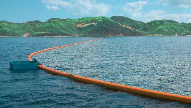 Nếu Dự án chạy thử thành công, Slat dự tính triển khai hệ thống lớn hơn để xử lý Vùng rác lớn trên Thái Bình Dương (ảnh: The Ocean Cleanup)