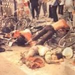 Rạng sáng ngày 4/6/1989, hàng xe đầu tiên gồm 3 chiếc xe tăng do La Cương dẫn đầu, tại Tân Hoa Môn gần Lục Bộ Khẩu đã theo sau truy đuổi nhóm sinh viên sơ tán khỏi quảng trường Thiên An Môn, kết quả đã khiến 11 người bị chết, vô số người bị thương