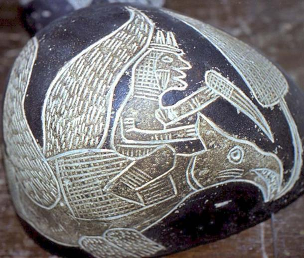 Một số hòn đá minh hoạ các sinh vật giống như thằn lằn (ảnh: Walter Langbein)
