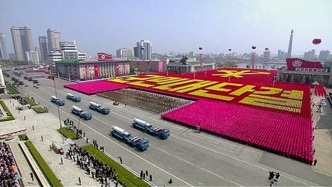 Lễ duyệt binh ở Triều Tiên. (Ảnh: Đài truyền hình trung ương Triều Tiên)