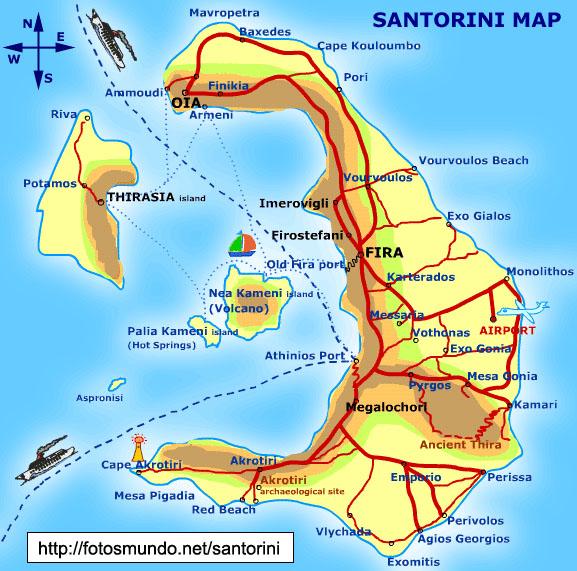 Đảo Santorini ở Biển Đen, nơi được coi là di tích của thành phố Atlantis (ảnh: fotosmundo.net)