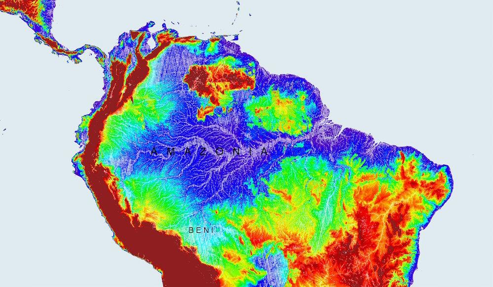 Ảnh vệ tinh này cho biết phần lớn của Amazonia ngập dưới nước vào mùa mưa