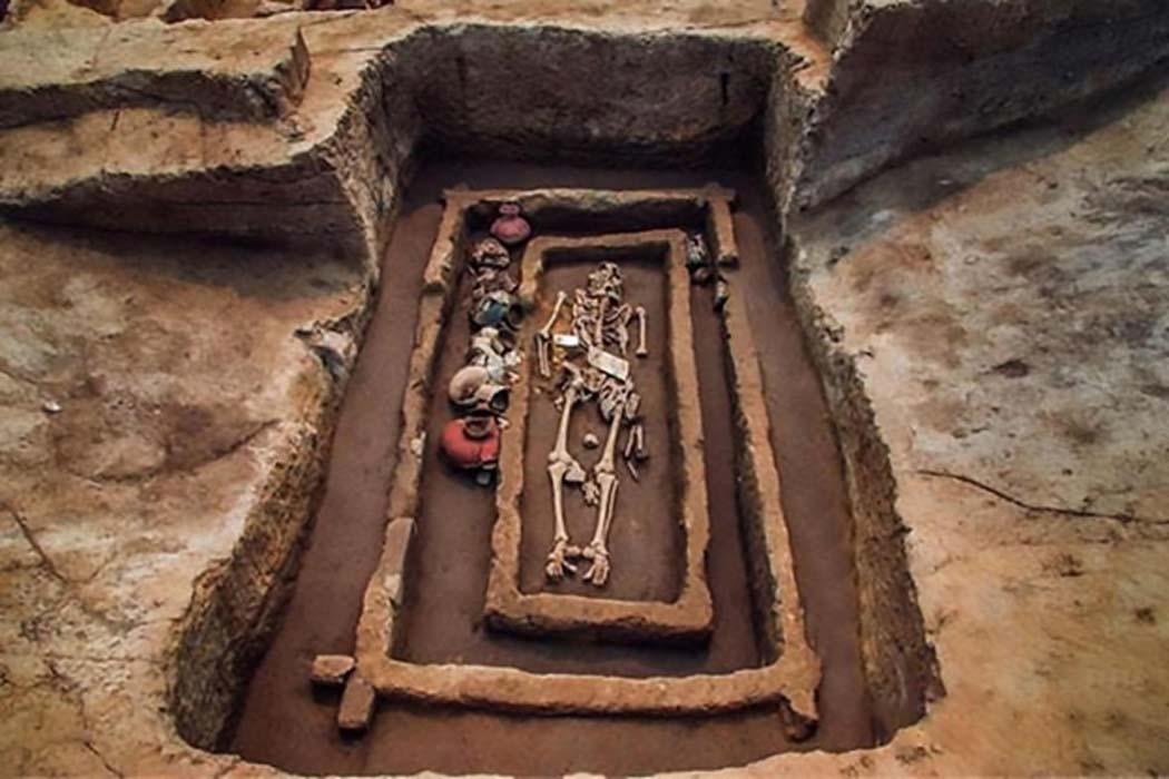 Bộ xương đặc biệt cao lớn từ 5000 năm trước (ảnh: AsianWare)