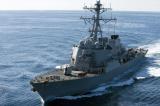 Tàu khu trục Mỹ lại áp sát Đá Vành Khăn, Trung Quốc phản đối