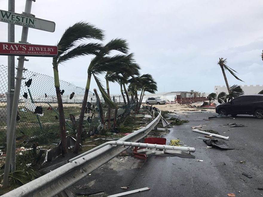Storm Damage In The Aftermath Of Hurricane Irma, In St. Martin