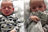 Em bé 3 tháng tuổi lập tức nín khóc khi ngửi thấy mùi của mẹ