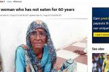 Cụ bà Ấn Độ chỉ sống dựa vào uống nước trong suốt 60 năm
