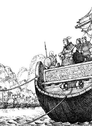 Thuyền cỏ mượn tên: Trận đánh kinh điển thời Tam Quốc được tái hiện trong sử Việt