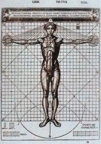 Bức Vitruvian Man của Leonardo Da Vinci: Tỉ lệ hoàn mĩ của cơ thể con người
