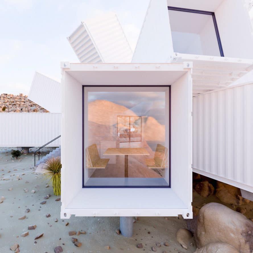 """Ngôi nhà container """"mọc trên sa mạc"""", thách thức môi trường khắc nghiệt"""