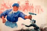 Khẩu hiệu và áp phích tuyên truyền chống Mỹ tràn ngập Bình Nhưỡng