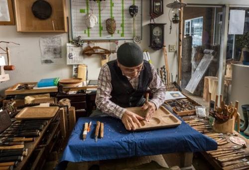 Nibutani ita: Những tuyệt tác trên gỗ thể hiện lòng kính ngưỡng Thần của người Nhật