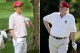 Trump va Abe danh golf
