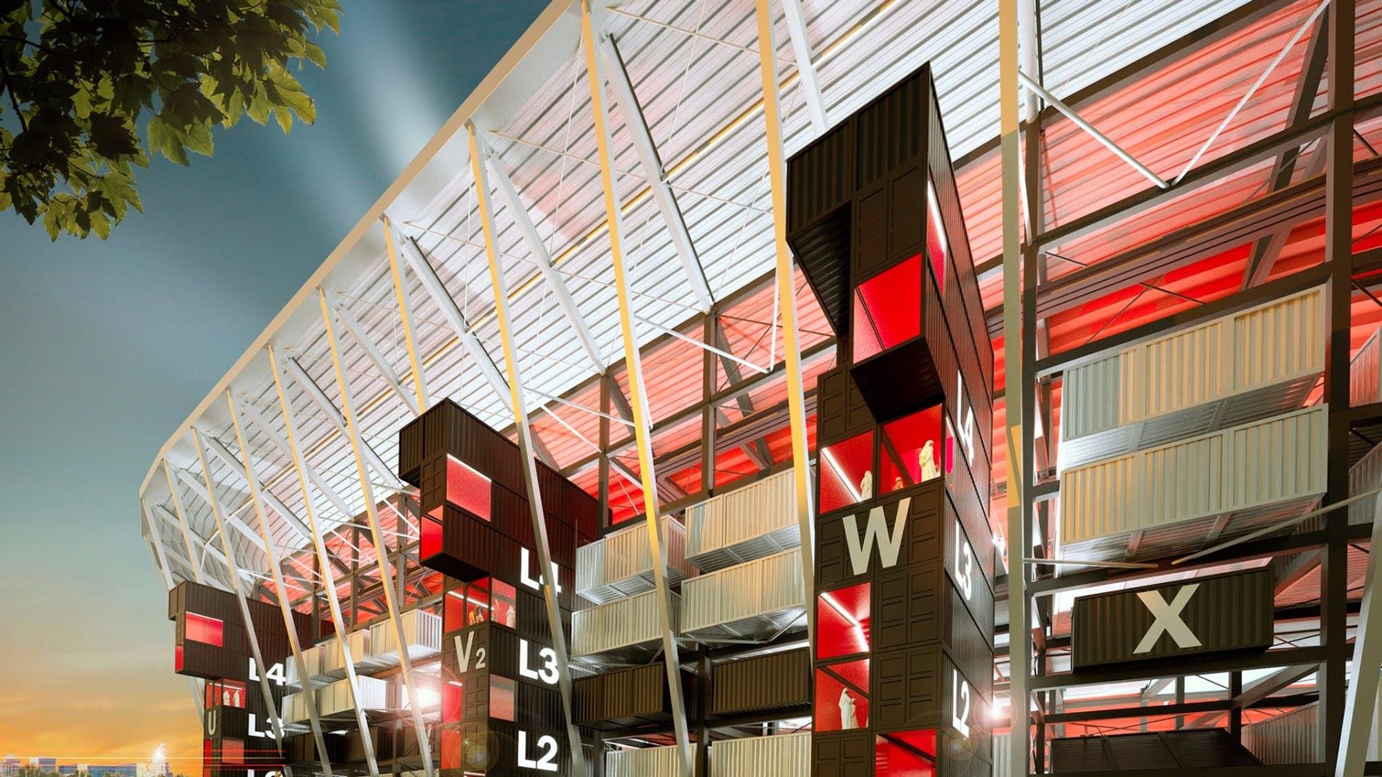 Qatar: Sân vận động làm từ container đầu tiên trên thế giới