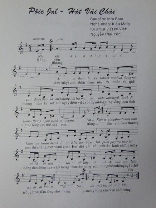 Câu chuyện âm nhạc: Bước đầu ký âm dân ca Chăm