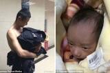Viên cảnh sát cởi áo để bao bọc em bé sơ sinh bị bỏ rơi