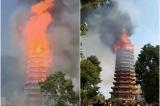 Video: Tòa tháp gỗ 16 tầng nổi tiếng nhất châu Á bốc cháy thành tro