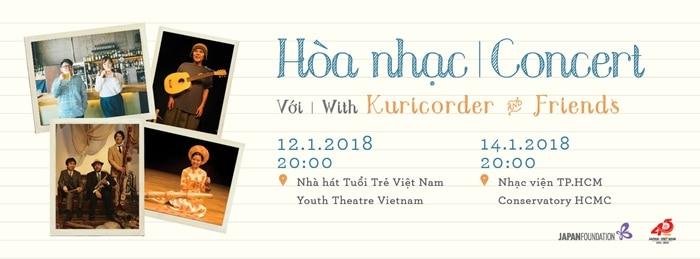 """HN & TP HCM – Hòa nhạc """"Kuricorder và Những người bạn"""" (12/14/01/2018)"""