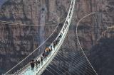 Khai trương cầu treo đáy kính dài nhất thế giới ở độ cao 230 mét, Cầu đáy kính, cầu treo, Trung Quốc