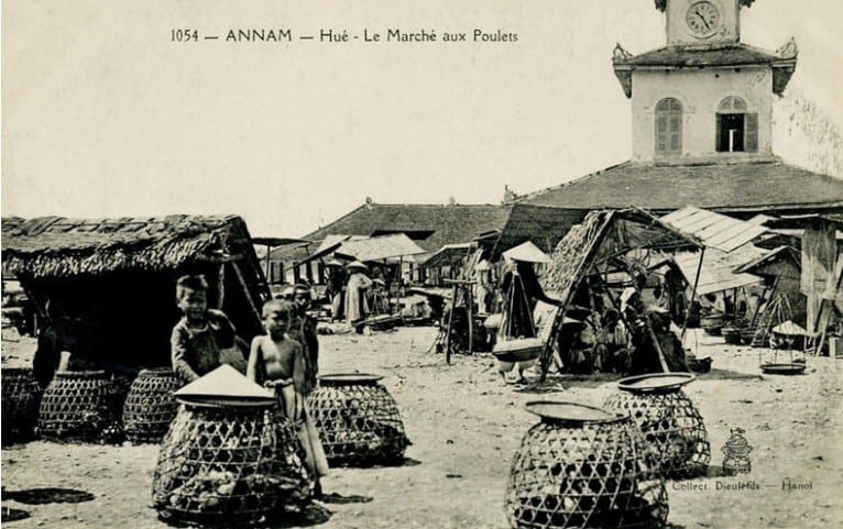 Ảnh hiếm chợ Đông Ba ở Cố đô Huế xưa.